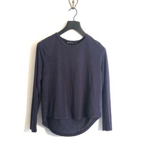 [Athleta] Navy Blue Long Sleeve Shirt - Small